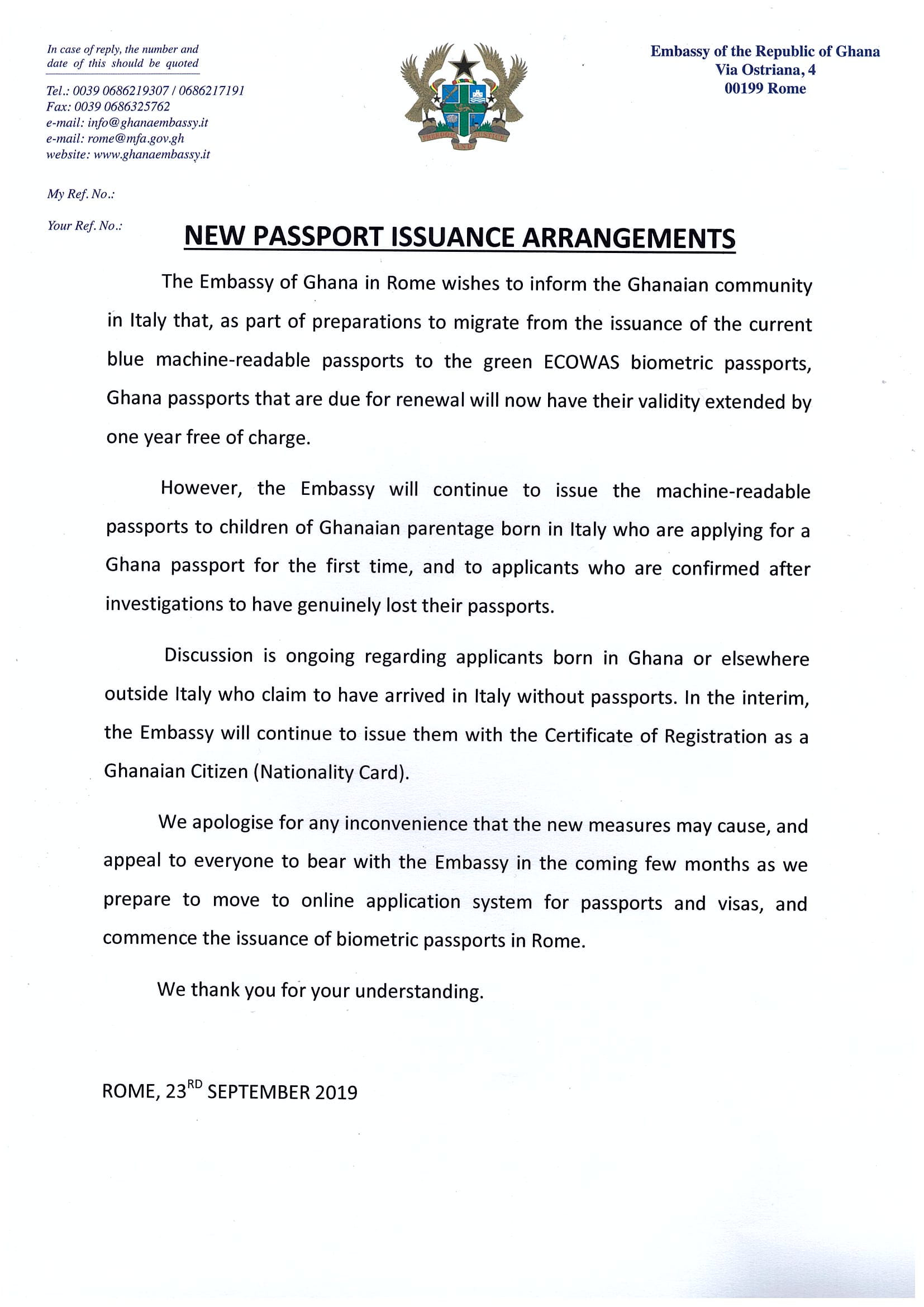 NewPassportIssuanceArrangements