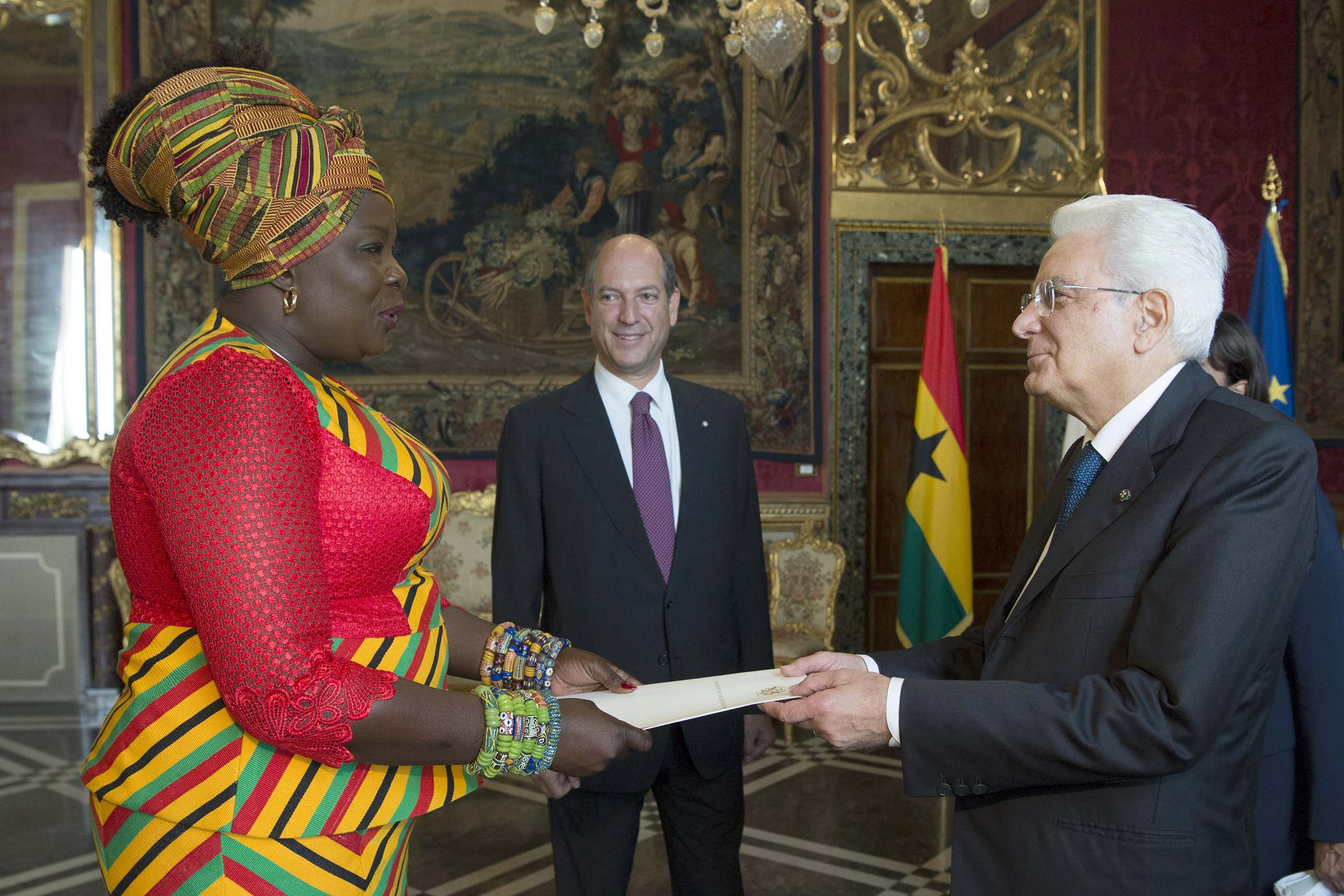 HER EXCELLENCY MS. PAULINA PATIENCE ABAYAGE PRESENTS HER LETTERS OF CREDENCE TO HIS EXCELLENCY MR. SERGIO MATTARELLA, PRESIDENT OF THE REPUBLIC OF ITALY