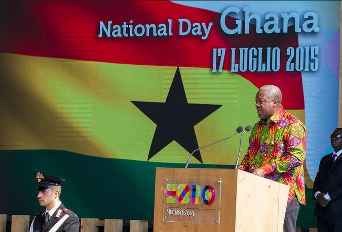 13 Ambassador With President Mahama At Ghana Day Milan 2015