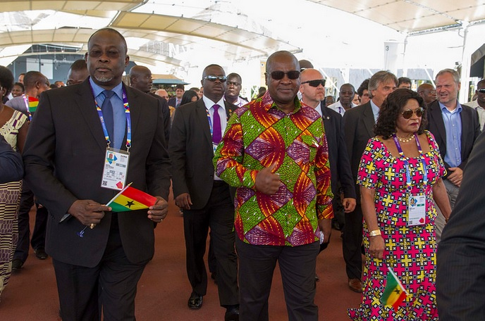 15 Ambassador With President Mahama At Ghana Day Milan 2015 3
