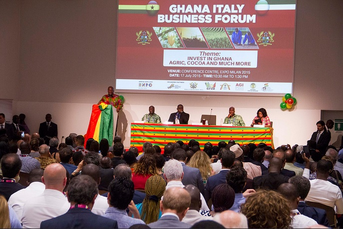 17 Ambassador With President Mahama At Ghana Day Milan 2015 5