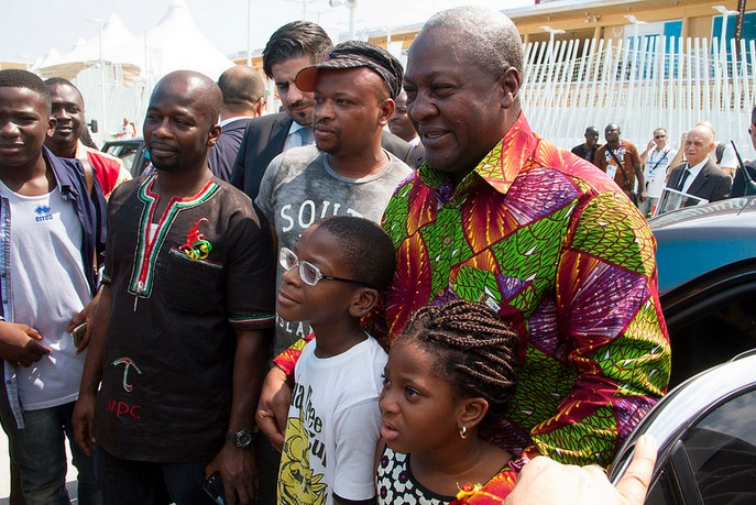 18 Ambassador With President Mahama At Ghana Day Milan 2015 6